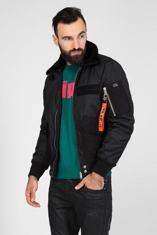 Мужская черная куртка W-SLOTKIN GIACCA Diesel