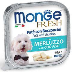 Консервы для собак, Monge Dog Fresh, с треской