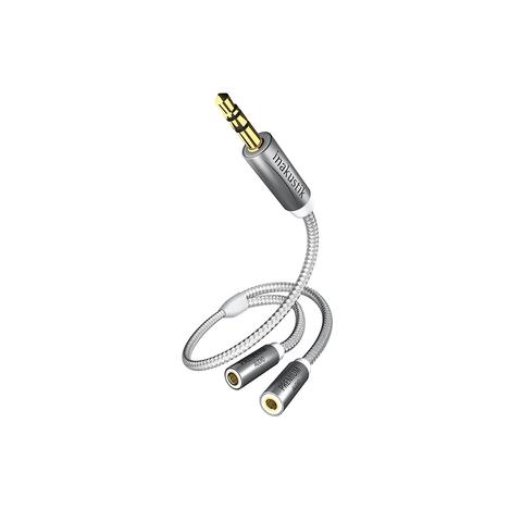 Inakustik Premium Y-adapter, 3.5 Phone <> 2 Phone(F), 00410212