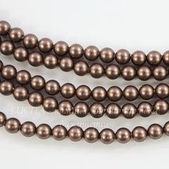 5810 Хрустальный жемчуг Сваровски Crystal Velvet Brown круглый 4 мм, 10 шт