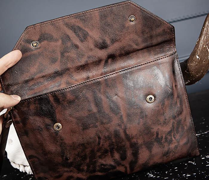 WL332-3 Вместительный клатч из кожи оригинального цвета фото 06