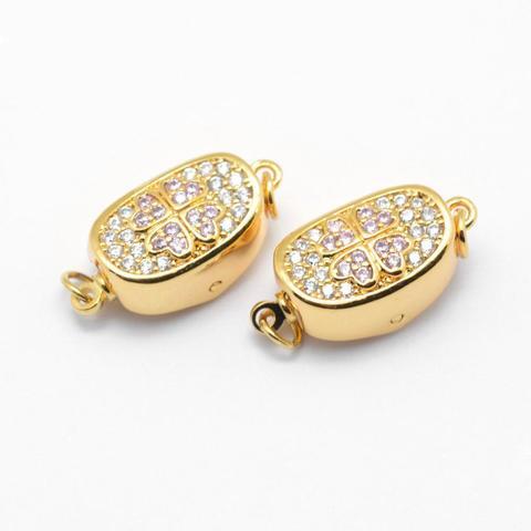 Замочек с цирконами 18 мм цвет золото