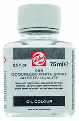 Разбавитель Уайт-спирит без запаха №089 для масляных красок, флакон стекло 75мл