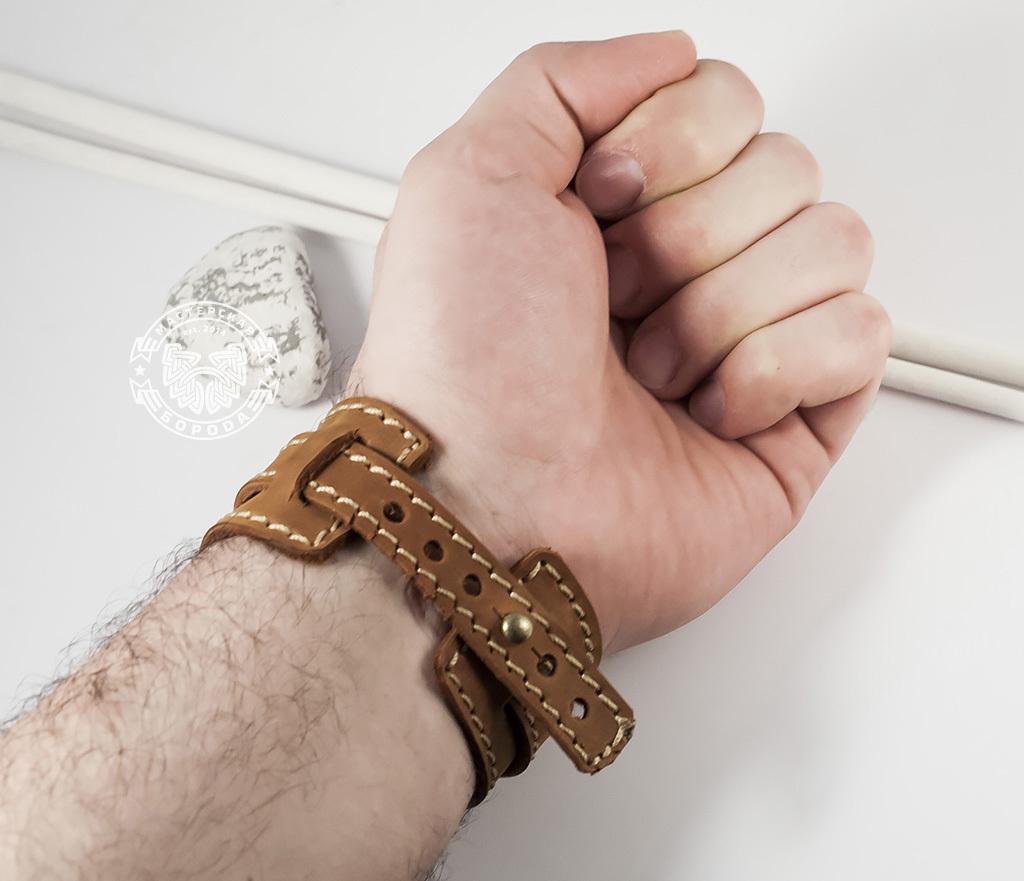 BL390-2 Браслет ручной работы из мягкой натуральной кожи. «Boroda Design» фото 10