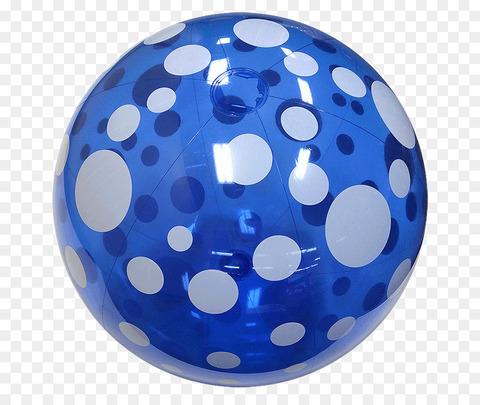 Мяч надувной с точками d38/D28787
