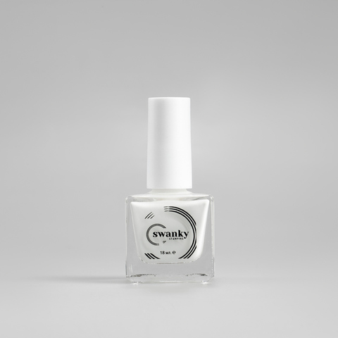 Лак для стемпинга Swanky Stamping №002, белый, 18 мл.