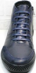 Теплые зимние ботинки мужские casual Luciano Bellini BC2802 L Blue.