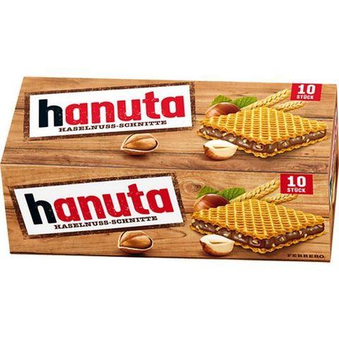 Вафли Hanuta c шоколадом и орехами в коробке 220 гр