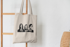 Сумка-шоппер с принтом Нирвана, Курт Кобейн (Nirvana, Kurt Cobain) бежевая 006