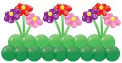 """Композиция """"Клумба с цветами"""""""