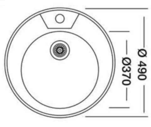 мойка врезная круглая D49 см