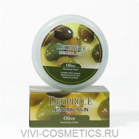 Питательный крем олива | DEOPROCE NATURAL SKIN OLIVE NOURISHING CREAM (100g)