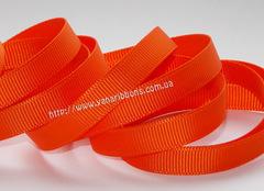 Лента репсовая оранжевая ширина 6, 9 и 22 мм