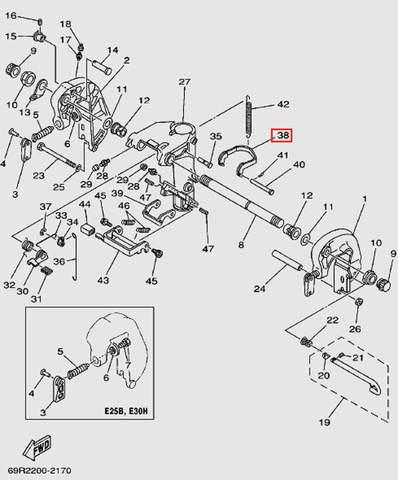 Замок наклона для лодочного мотора Т30 Sea-PRO (14-38)