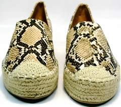 Слипоны женские Lily shoes Q38snake.