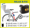 Велокресло Bellelli Summer Relax B-Fix Hi-Viz, крепление к подседельной трубе