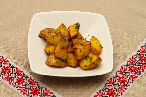 Картофель жареный из отварнового