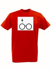 Футболка с принтом Гарри Поттер (Harry Potter/ Гриффиндор, Слизерин, Когтевран, Пуффендуй) красная 0041