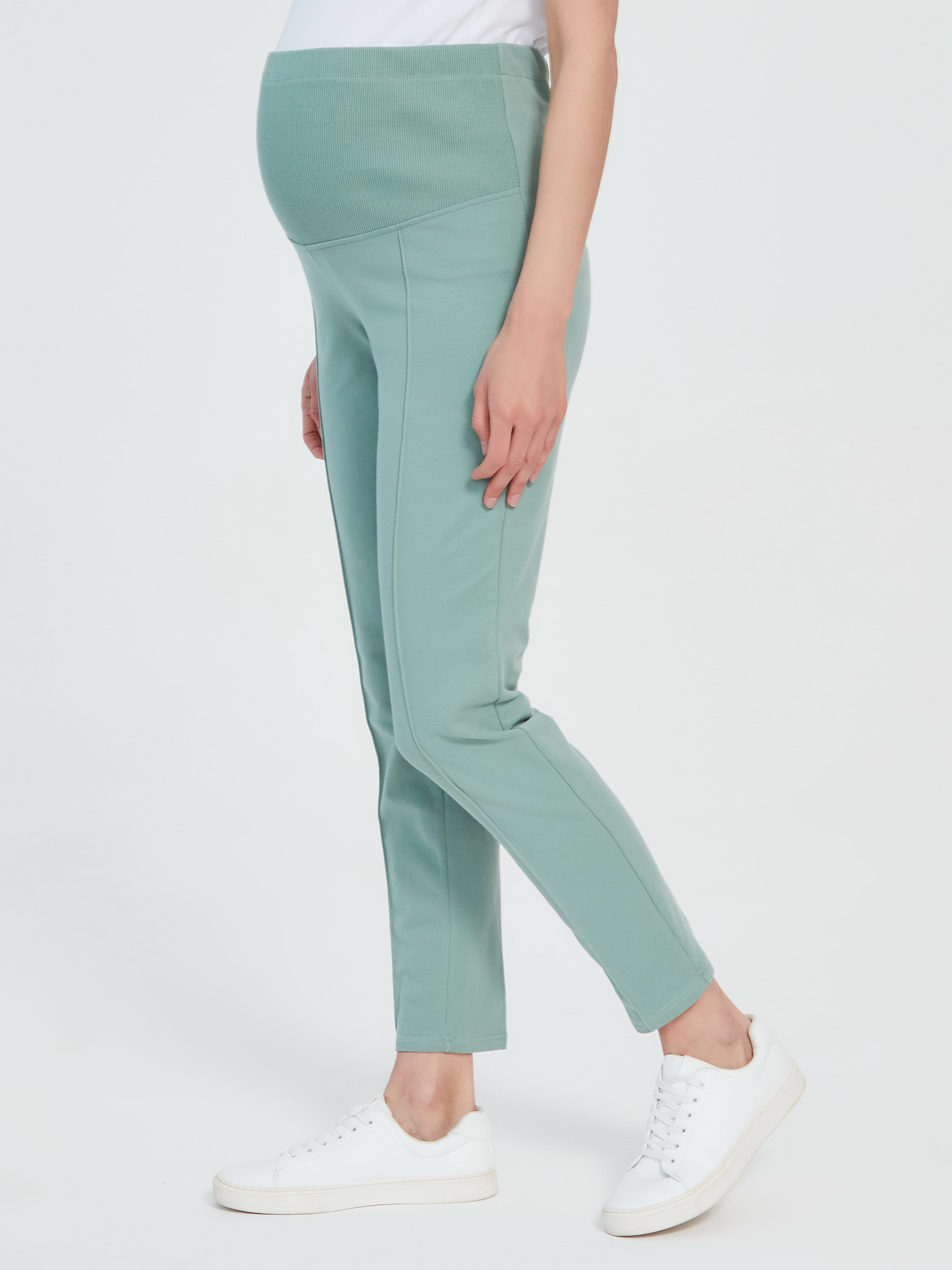 Трикотажные брюки из хлопка Chic mama для беременных