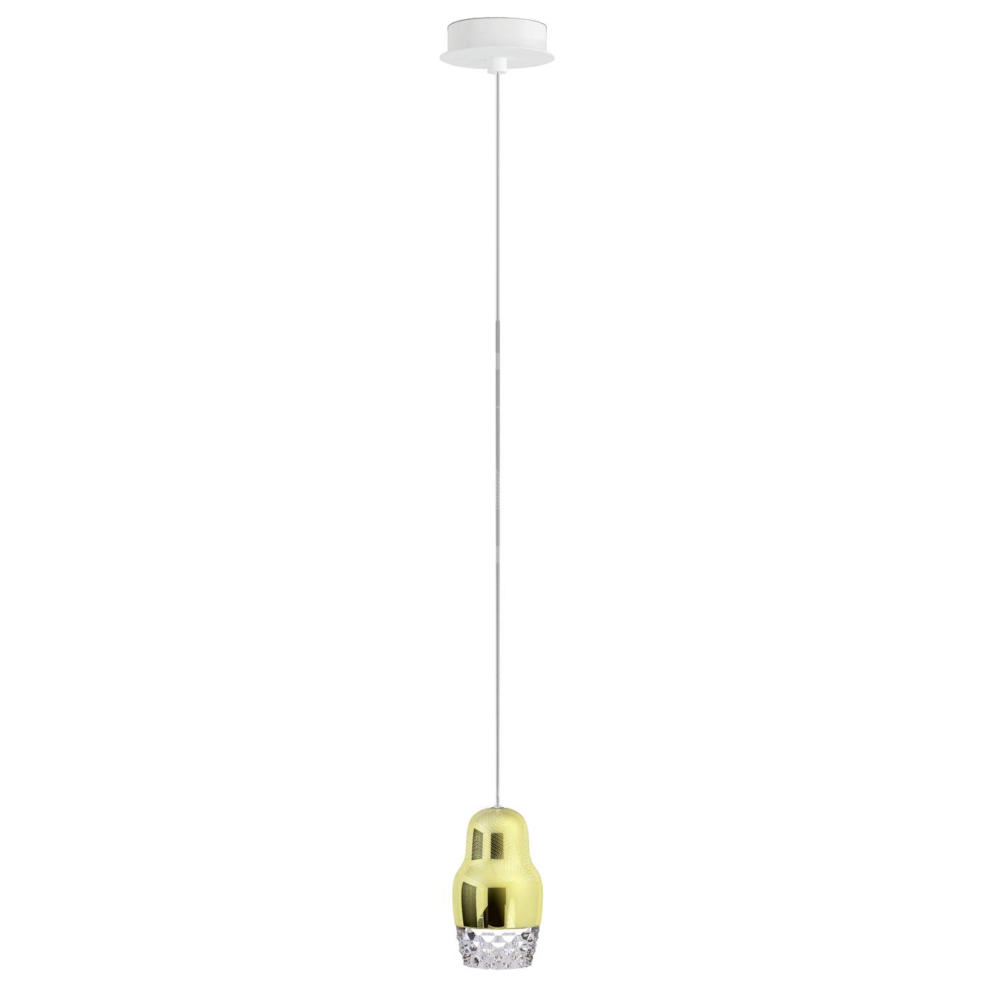 Подвесной светильник копия FEDORA 1 by AXO LIGHT  (золотой)
