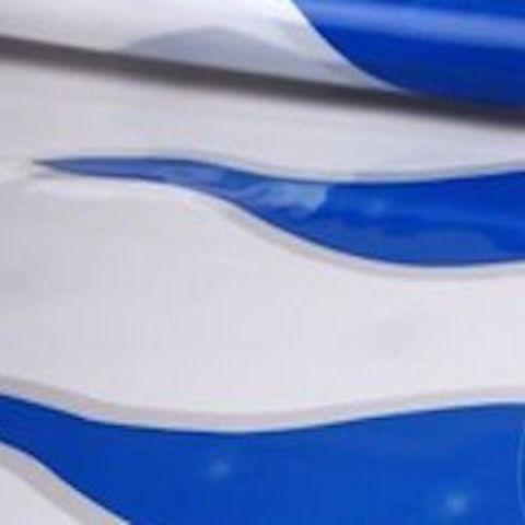 Пленка полипропиленовая цветная Пламя 70см х 7м Цвет: бело-синий