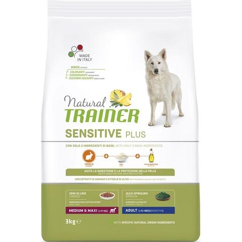 Сухой корм Natural Trainer Sensitive Plus Adult Medium&Maxi Rabbit 12 кг.