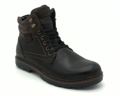 Черные ботинки на шнуровке