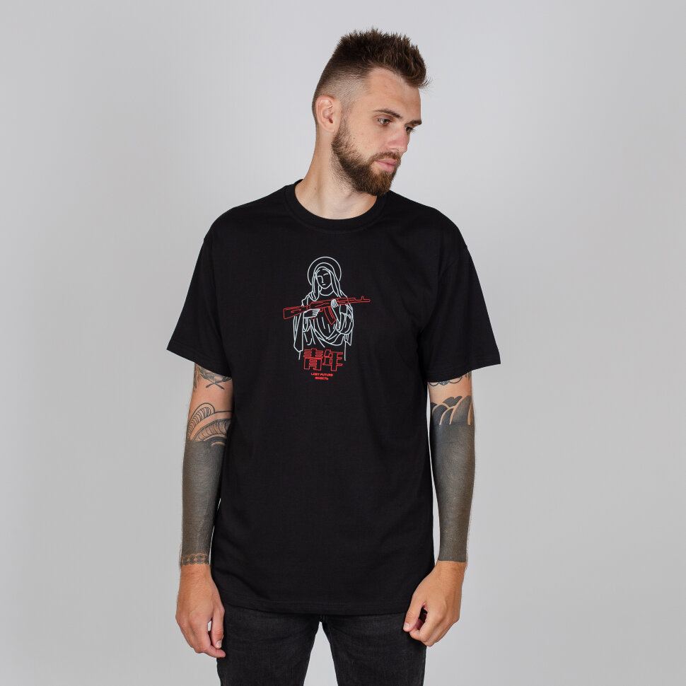 Футболка ЮНОСТЬ™ KFG Черный - купить по выгодной цене | EHOT Store - Магазин уличной одежды