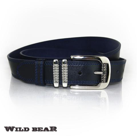 Ремень WILD BEAR RM-024m Dark-blue
