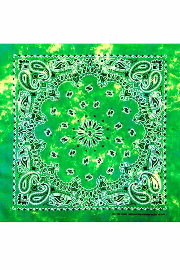 Бандана тай-дай зеленая фото