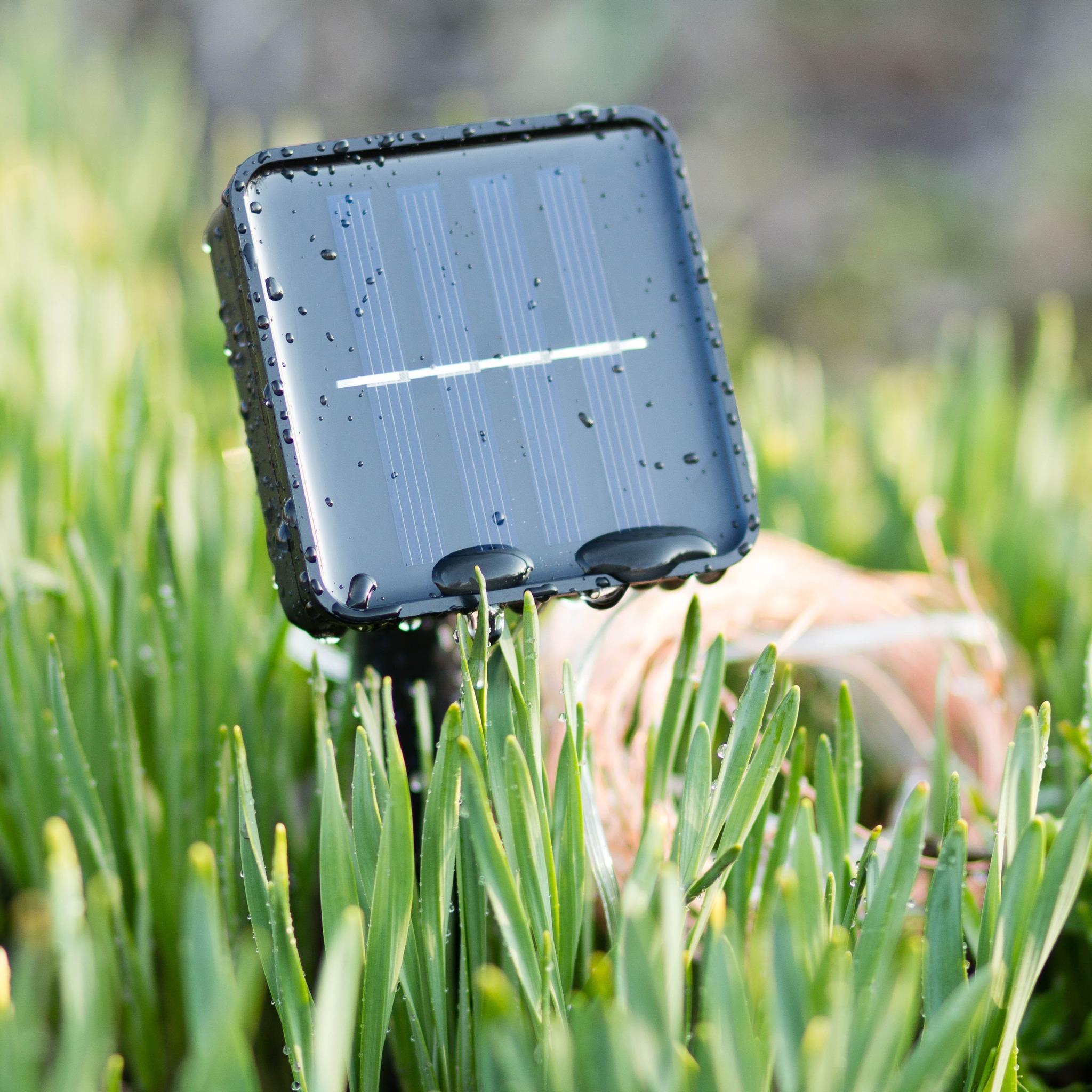 Гирлянда-нить на солнечной батарее EPECOLED зеленая (10 метров, 100LED)
