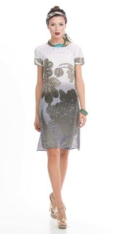 Фото легкое платье свободного кроя с декоративной вставкой - Платье З794-580 (1)