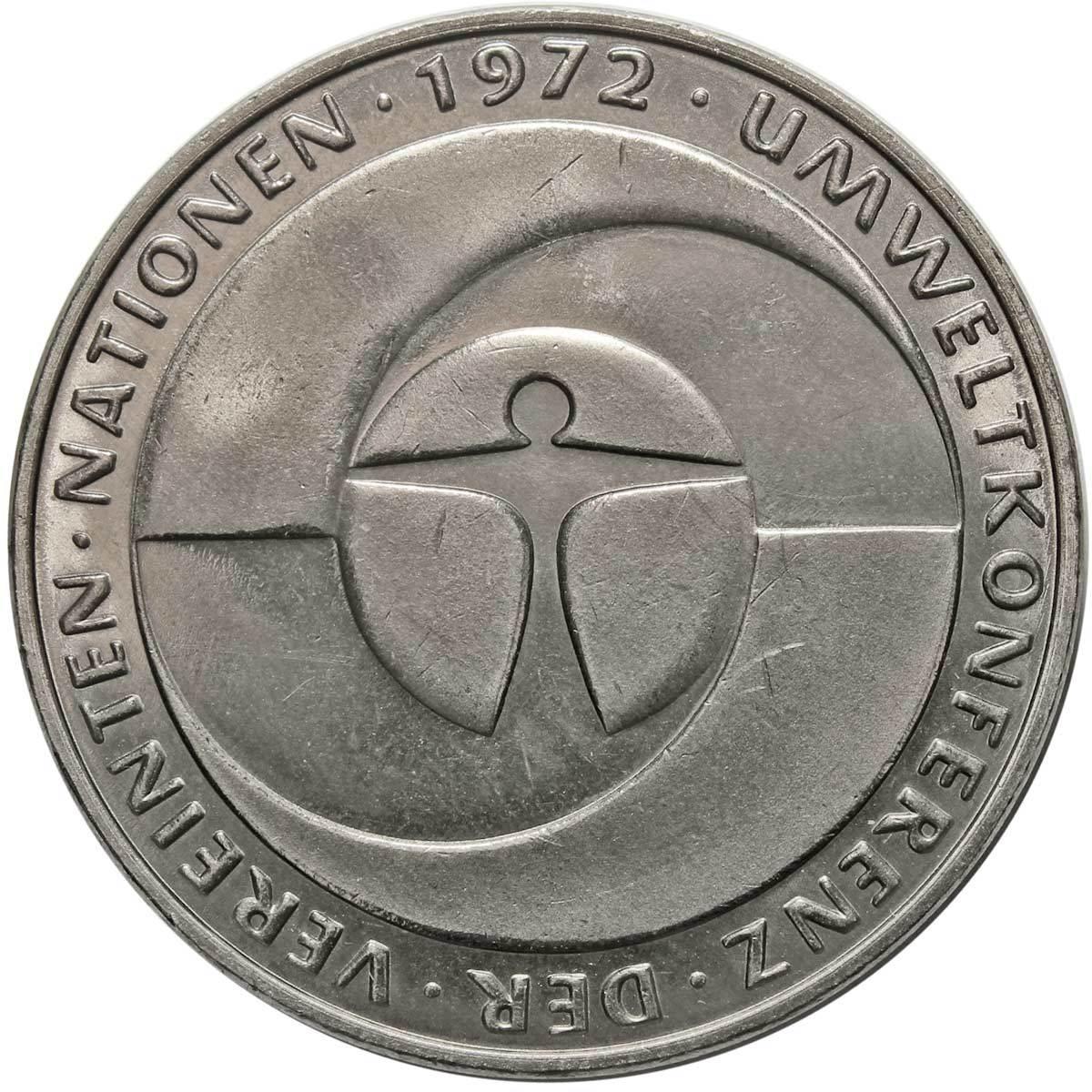 5 марок. 10 лет конференции ООН по окружающей среде (F). Медноникель. 1982 г. AU