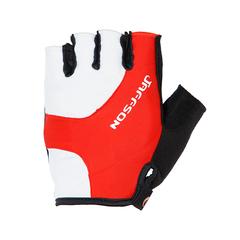 Велоперчатки JAFFSON SCG 46-0385 (чёрный/белый/красный)