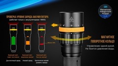 Купить мощный светодиодный фонарь подводный Fenix SD11, 1000 лм, аккумулятор