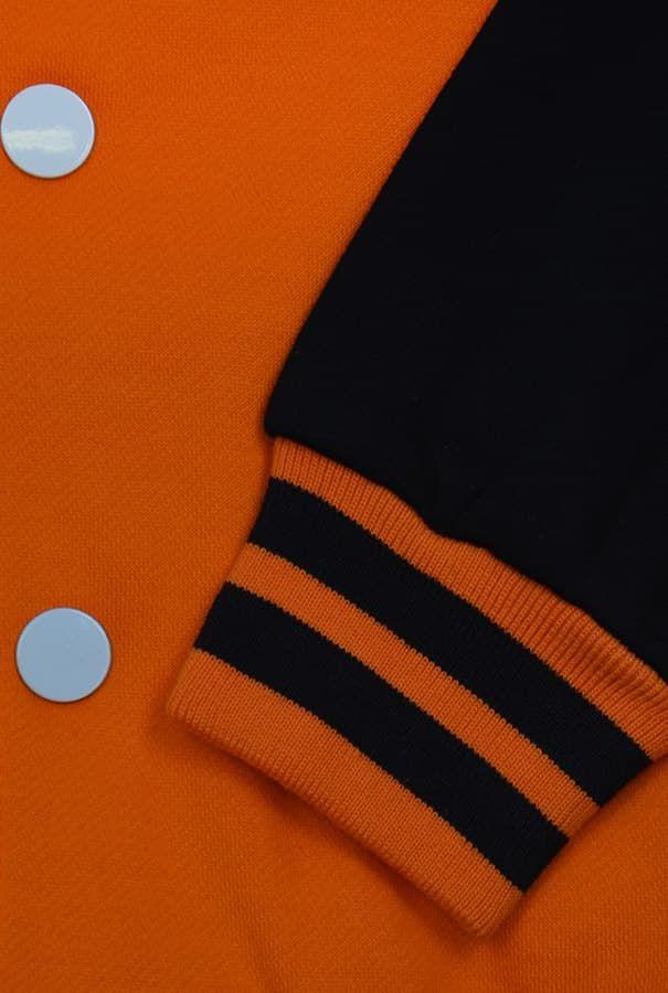 Бомбер оранжевый фото рукав