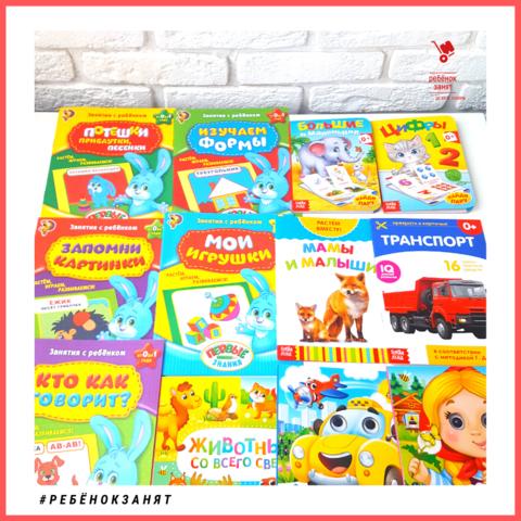 Набор развивающих книг, 12 шт., возраст от 0 до 1 года, для девочки / для мальчика