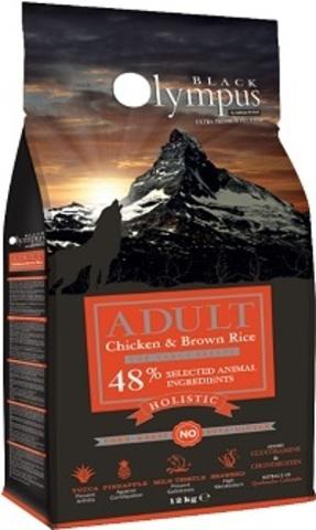 Black Olympus Adult Maxi Chicken & Rice - Для собак крупных пород, курица/коричневый рис 12 кг.