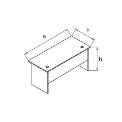 Стол компьютерный прямоугольный (глубина 80 см) МОНО-ЛЮКС