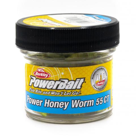 Приманка силиконовая Berkley Honey Worm Yellow (1089418) Имитация опарыша крупного