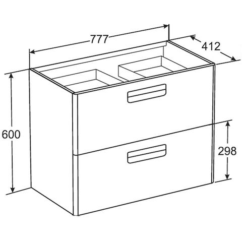 Мебель для ванной Roca The Gap 80x41см. виноград ZRU9302740/327470000 схема