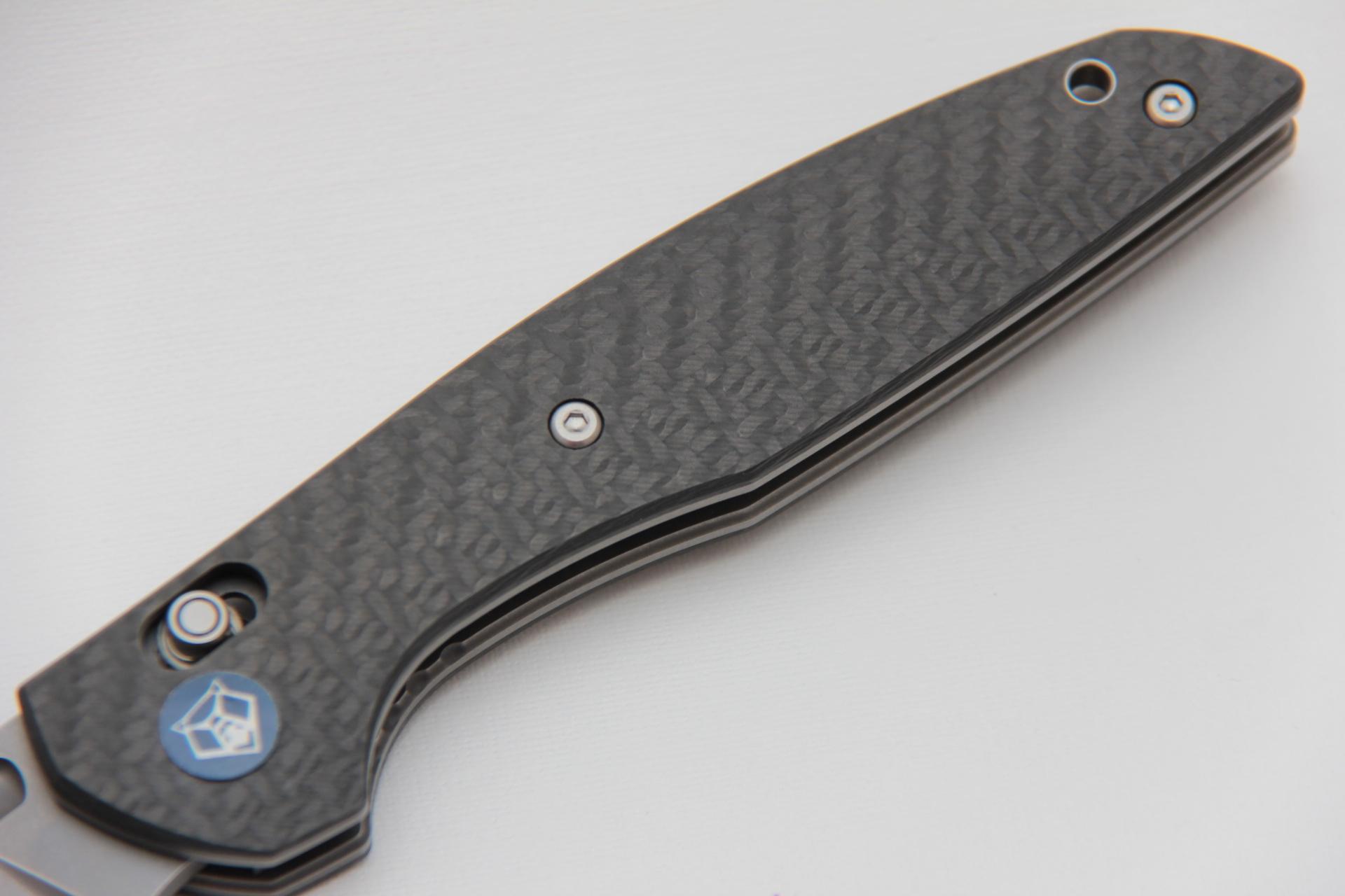 Нож Широгоров 110 S90V карбон 3D долы - фотография