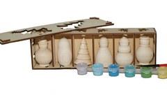 057-3733 Набор  елочных игрушек ( 6 шт) ассорти