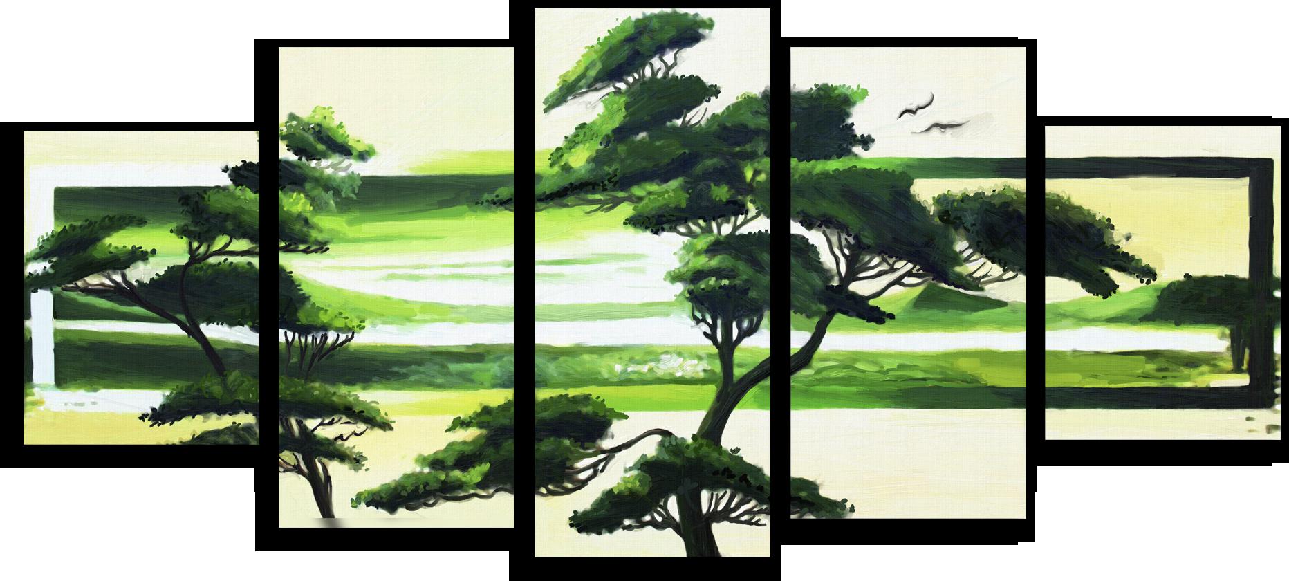 """Модульные картины Модульная картина """"Зеленая Африка"""" М43.png"""