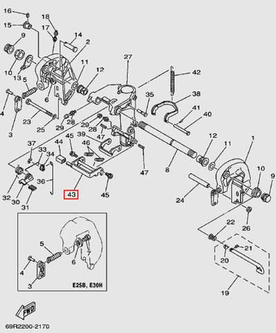 Опора для лодочного мотора Т30 Sea-PRO (14-43)