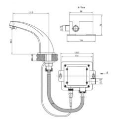 Сенсорный смеситель KAISER Sensor 38111 для раковины схема