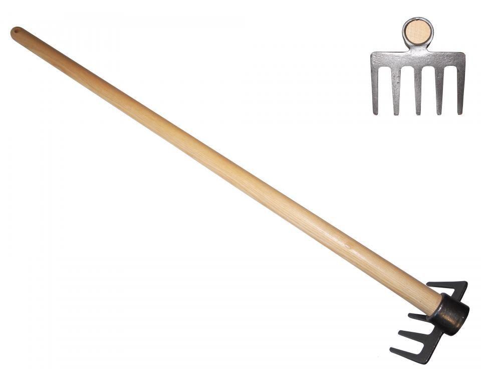 """Мотыга """"Оксфорд"""" с круглыми зубцами DeWit рукоятка из ясеня 800мм"""