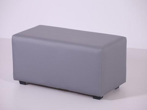 Пф-02 Пуфик прямоугольный (серый) для дома и магазина