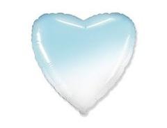 F Сердце Градиент голубой, 32