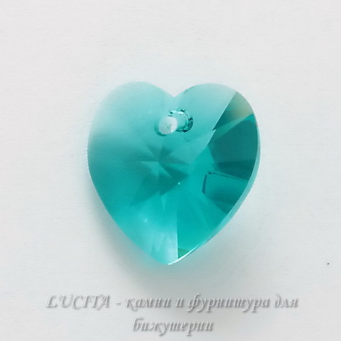 6202/6228 Подвеска Сваровски Сердечко Blue Zircon (10,3х10 мм) ()